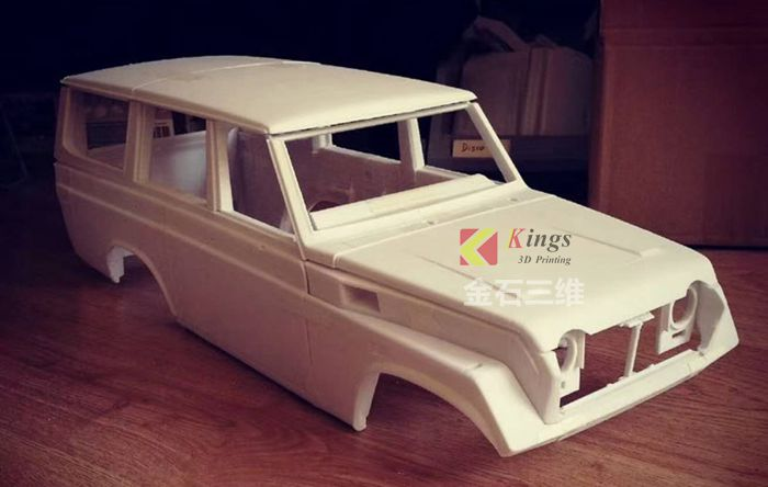Using the KINGS SLA 3D printer, he changed the car development cycle