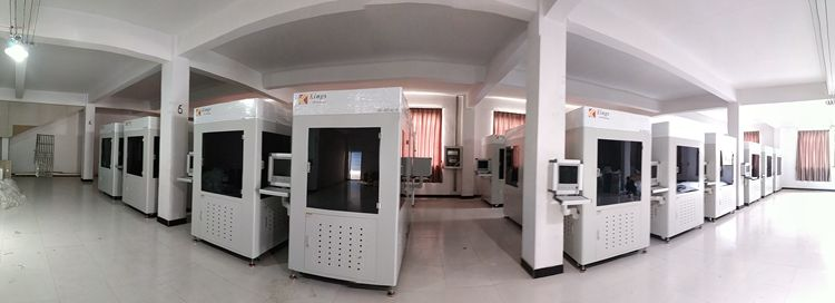 Sixty percent of the cost, five times more efficient, rapid prototyping companies are using Kings laser 3D printer