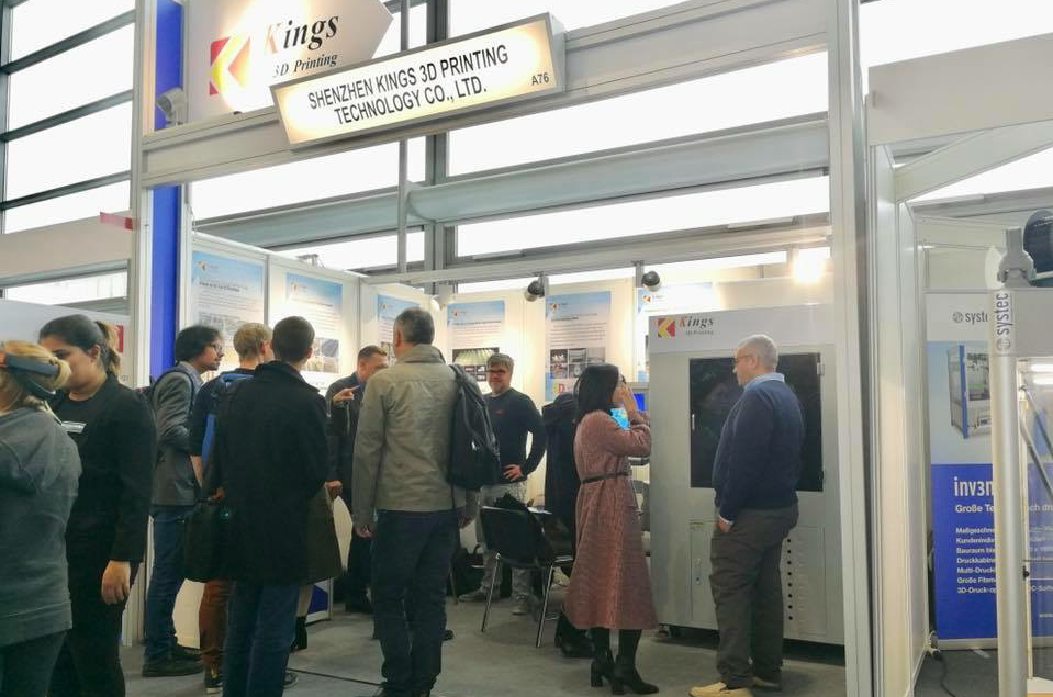Kings SLA 3D printer is popular at Formnext 2018 Additive Manufacturing Exhibition