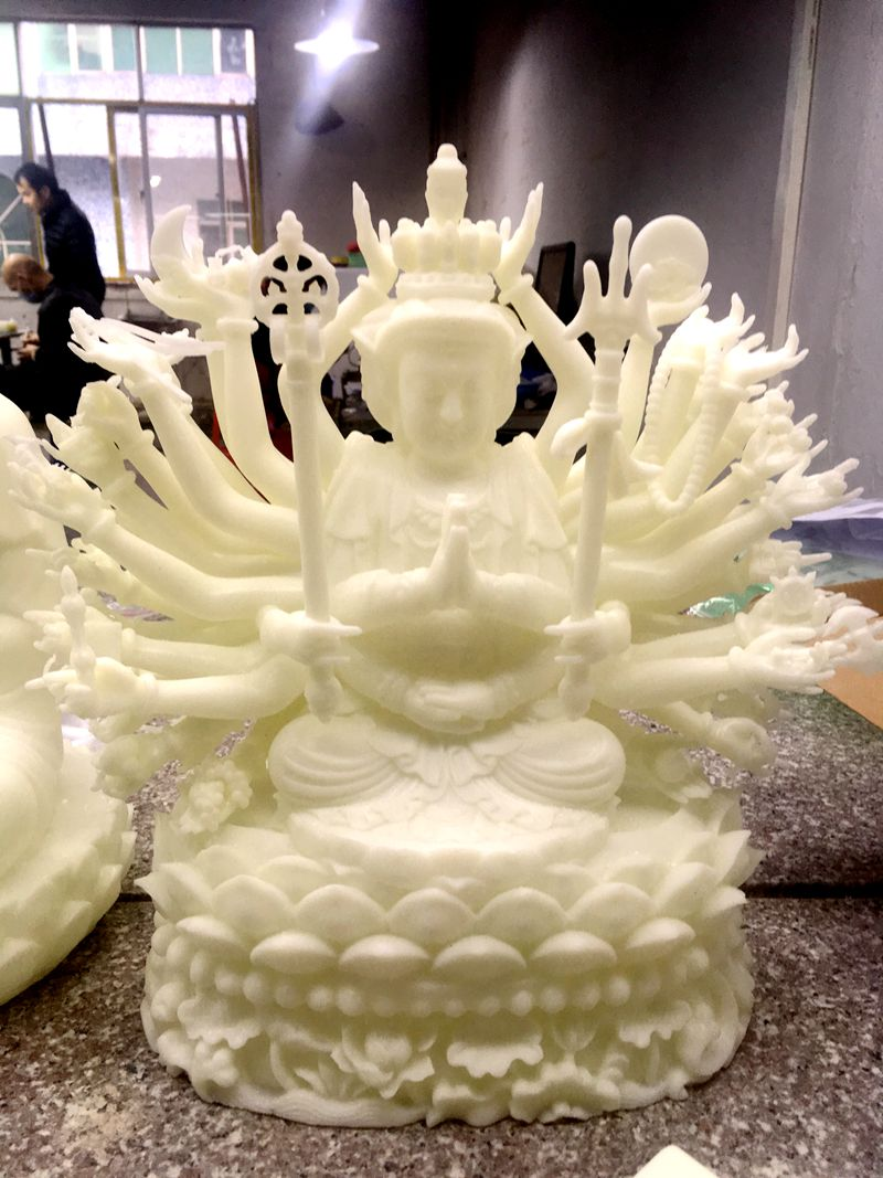3D printed Buddha sculpture