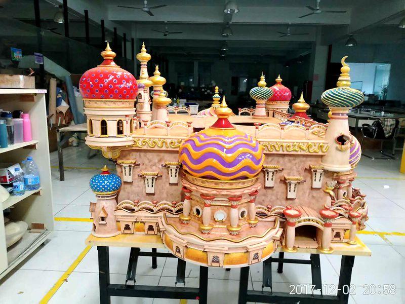 3D printed castle model