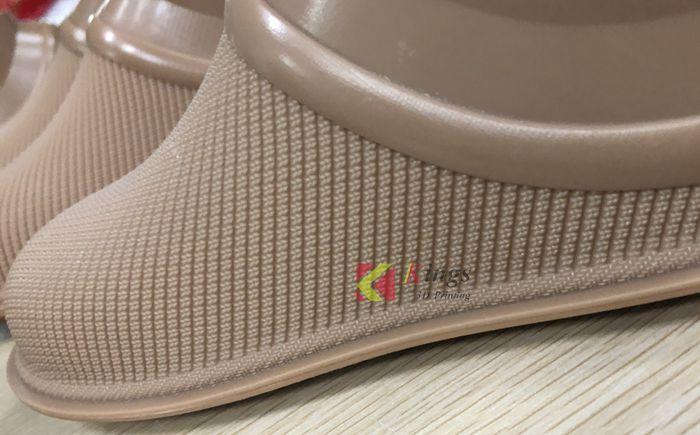 Brown resin 3D printed shoe mold