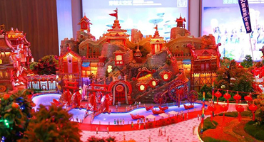 He used the KINGS industrial 3D printer to create a building model of Evergrande Children's Park worth 6 million yuan.