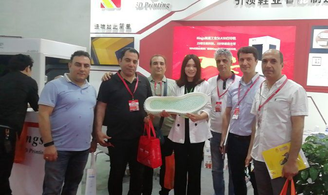 China Jinjiang Footwear Exhibition, Kings Industrial sla 3d printer once again became the focus